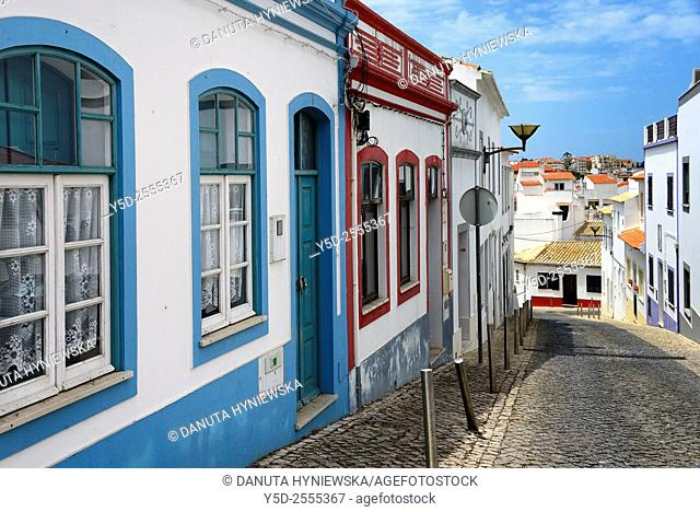 Europe, Portugal, Algarve, Faro district, Lagos, historic part,  Rua Bombeiros Voluntários de Lagos