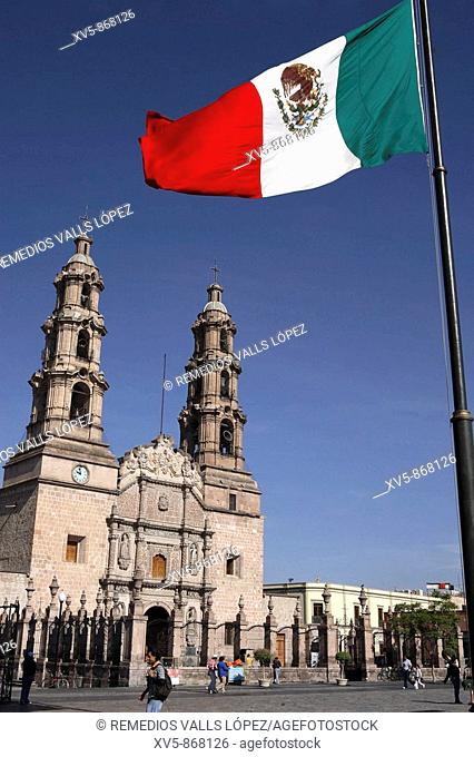Mexico. Aguascalientes. Colonial City. Cathedral at the main square