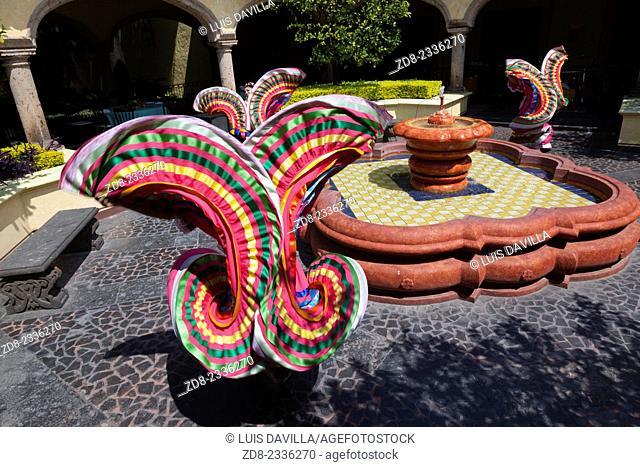 Mexican folk dancing in hacienda jose cuervo. tequila