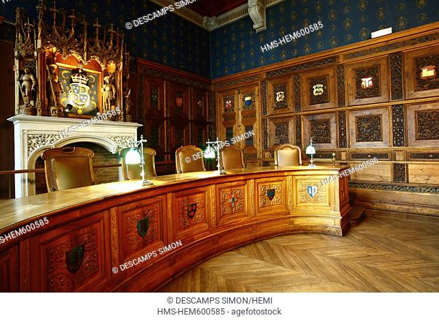 France, Isere, Grenoble, inside the 15th century old Dauphine Parliament,it was the Courthouse of the town until 2002