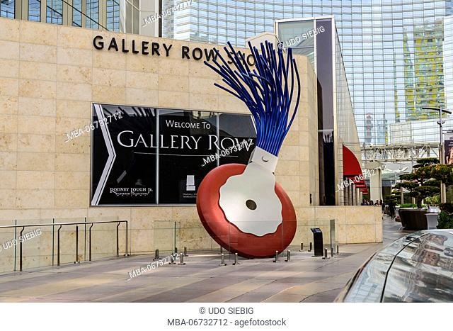 The USA, Nevada, Clark County, Las Vegas, west Harmon Avenue, city centre, Claes Oldenburg sculpture