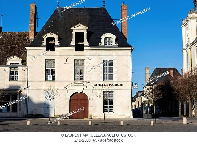 Tourist Office in Market Square in the Richelieu City, a Masterpiece of Urban Design of 17th Century (as Ideal City), built by Cardinal Richelieu (Armand Jean...