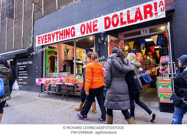 Everything One Dollar And Up Store In Midtown Manhattan New York