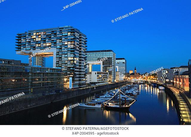 The Rheinauhafen, Rheinau harbour, is a 15.4 hectares (38 acres) urban regeneration project in Cologne, Germany, located along the River Rhine