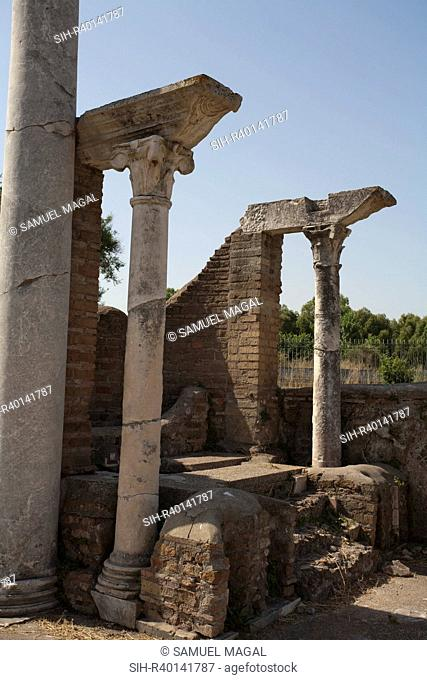 Italy, Ostia Antica - Ancient Synagogue. The synagogue at Ostia was founded during the reign of Emperor Claudius 41-54 AD