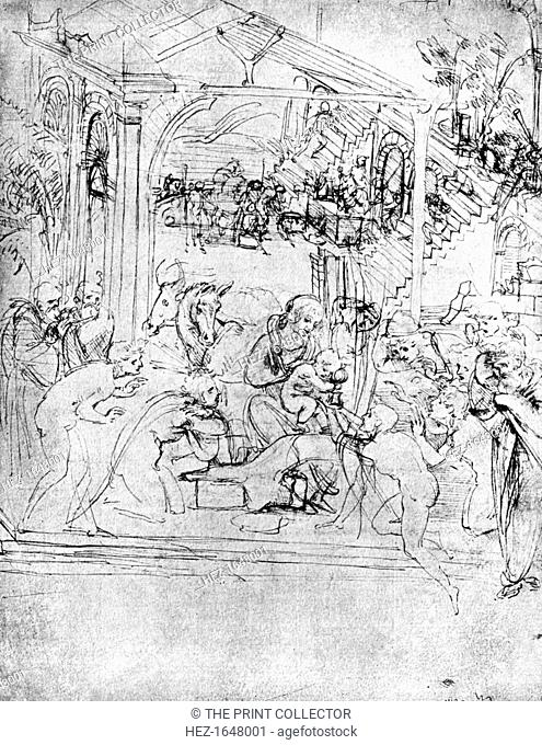 Study for 'The Adoration of the Magi', 15th century (1930). Found in the collection of the Louvre, Paris, France. From Apollo magazine, volume XII