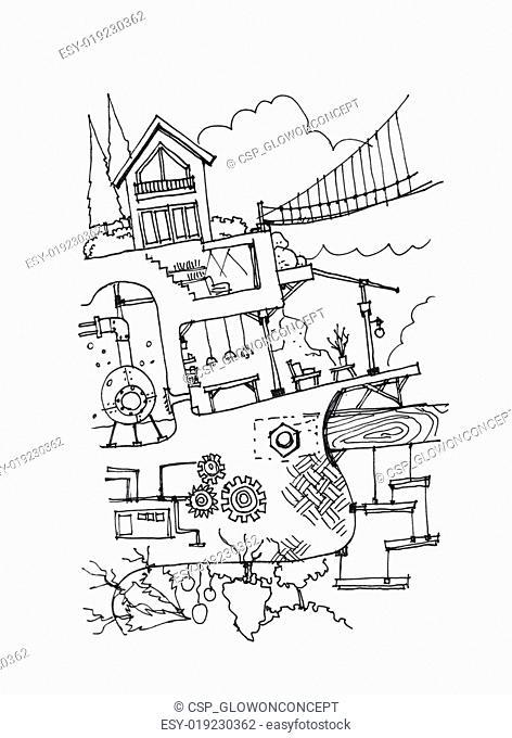 fantasy house with secret rooms underground