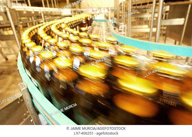 Beer bottle factory production line