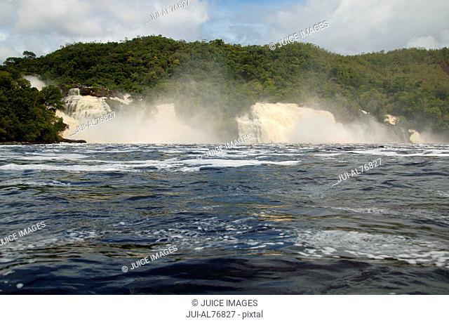 View of a beach at Hacha falls, Canaima National Park, Venezuela