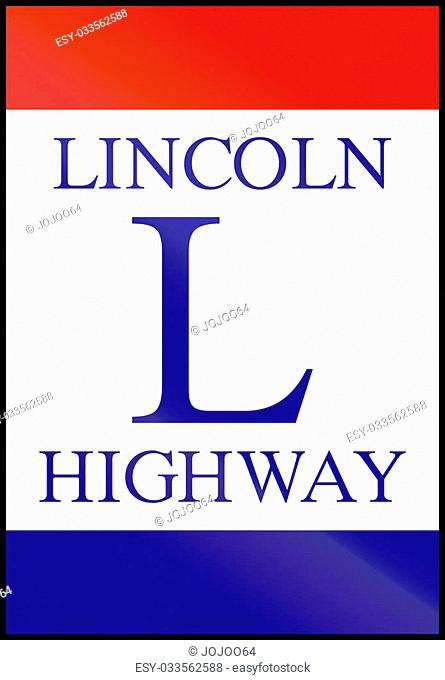 Scenic byway shield in the USA: Lincoln Highway