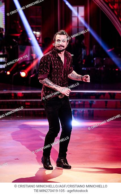 Dani Osvaldo during the performance at the tv show Ballando con le stelle (Dancing with the stars) Rome, ITALY-27-04-2019