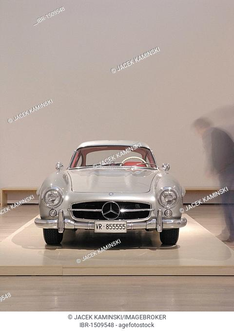 Mercedes Benz 300 SL, Mitomacchina exhibition, Museum of Modern Art, MART, Rovereto, Italy, Europe