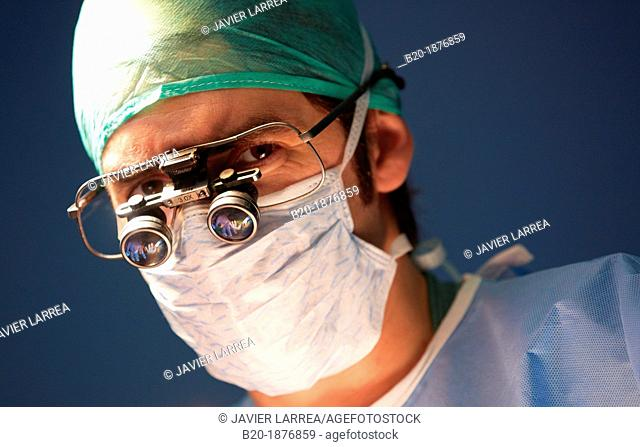 Surgeons, Vascular Operating Room, Surgery, Hospital Donostia, San Sebastian, Gipuzkoa, Basque Country, Spain