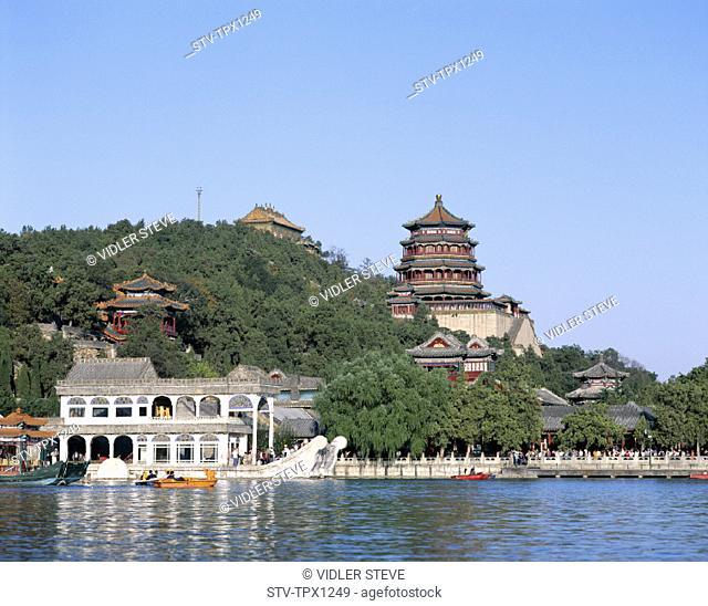 Asia, Beijing, Peking, Boat, China, Heritage, Holiday, Kunming, Lake, Landmark, Marble, Qing dynasty, Summer palace, Tourism, Tr