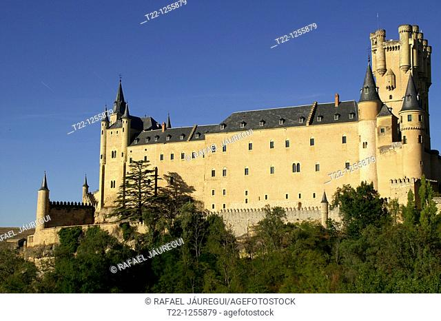 Overview of the Alcazar of Segovia  Segovia Spain