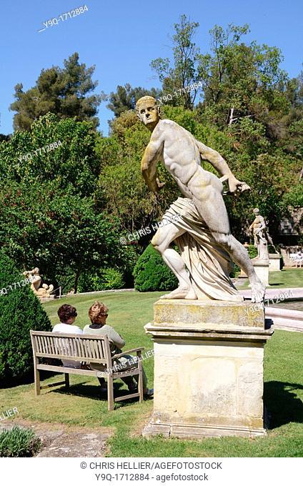Mars Statue at the Jardins d'Albertas or Albertas Gardens Bouc-bel-Air near Aix-en-Provence Provence France