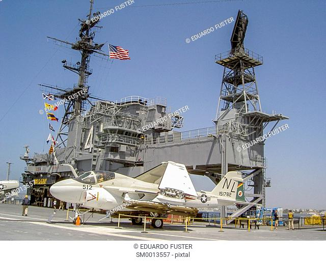 USS Midway in San Diego(California, USA)