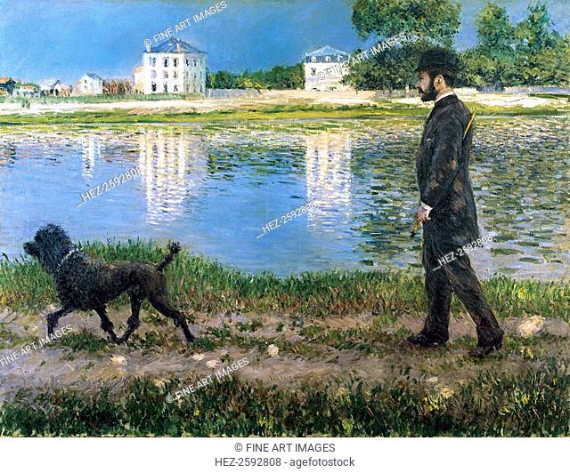 Richard Gallo and His Dog at Petit Gennevilliers, c. 1883-1884. From a private collection