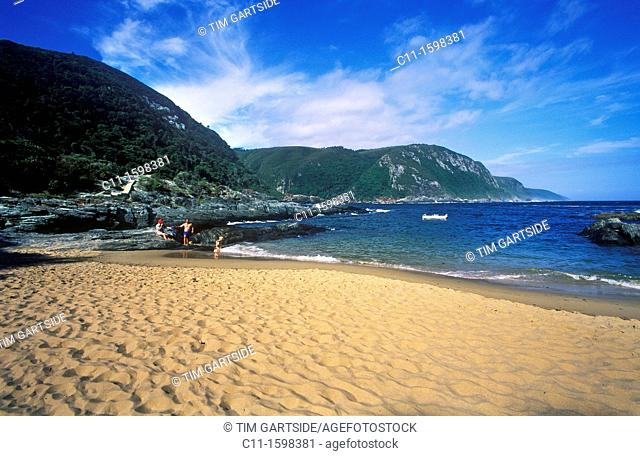 beach at storms river national park, garden route, south africa