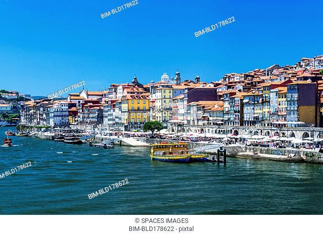 Porto cityscape and harbor, Porto, Portugal