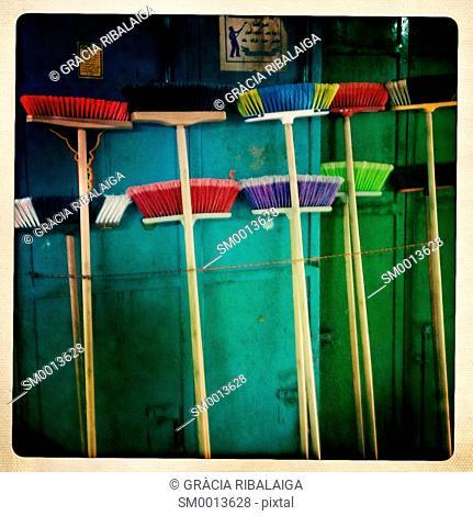 Brooms. The Old City of Jerusalem, Israel