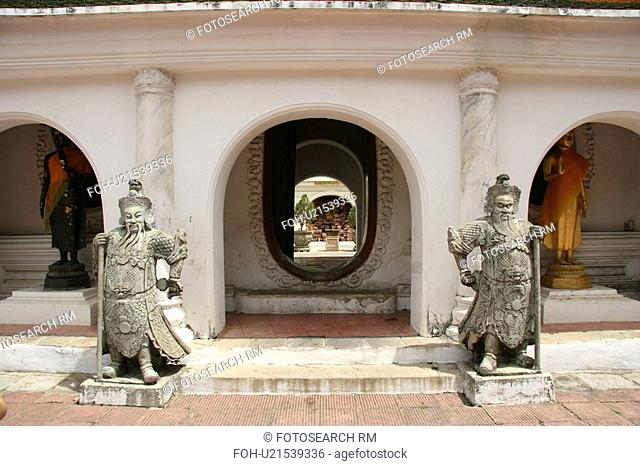 phra, ancient, stupa, temple, buddhist, thailand