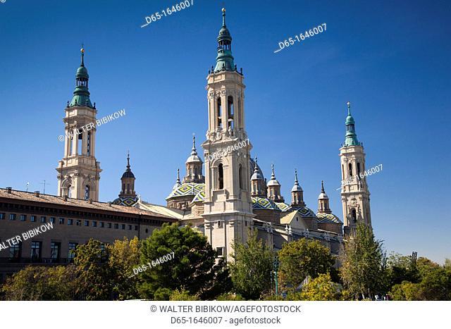 Spain, Aragon Region, Zaragoza Province, Zaragoza, Basilica de Nuestra Senora de Pilar