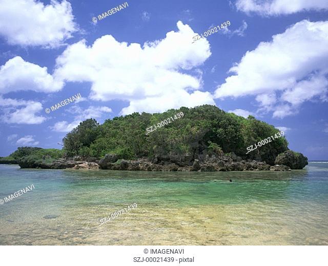 Sea-girt island