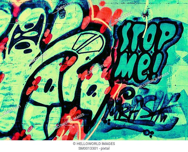 Stop me graffiti, Sebastopol, Crimea