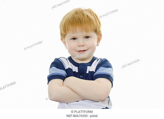 Portrait of a plucky little boy