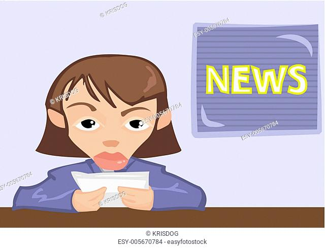 news reader, anchor or presenter