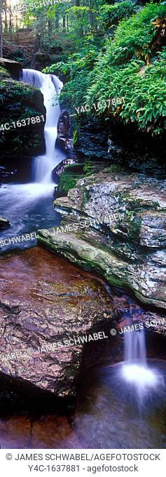 Waterfalls in Ricketts Glen State Park Pennsylvania