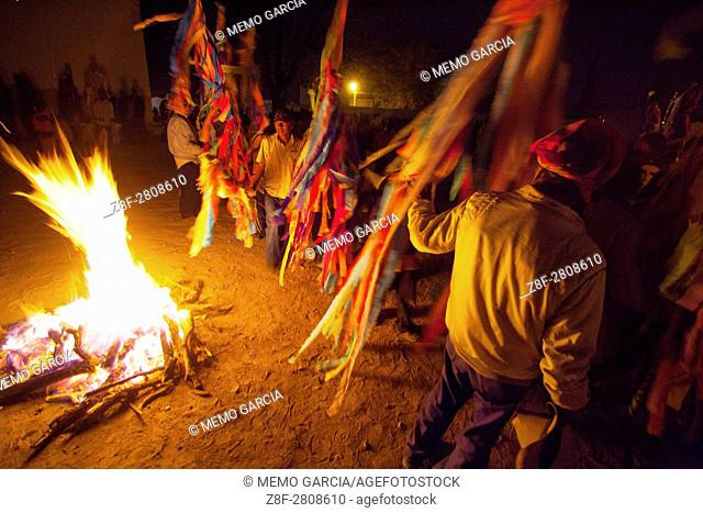 During Holy Week before good friday, the new fire is the representaton of hope and the salvation. In Ciudad del Maiz it's a mix celebration between Catholics...