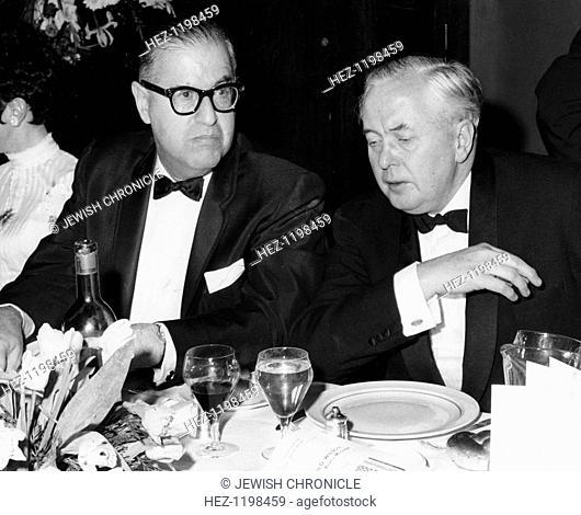 Abba Eban (1915-2002), Israeli Foreign Minister, and Harold Wilson (1916-1995), British Prime minister