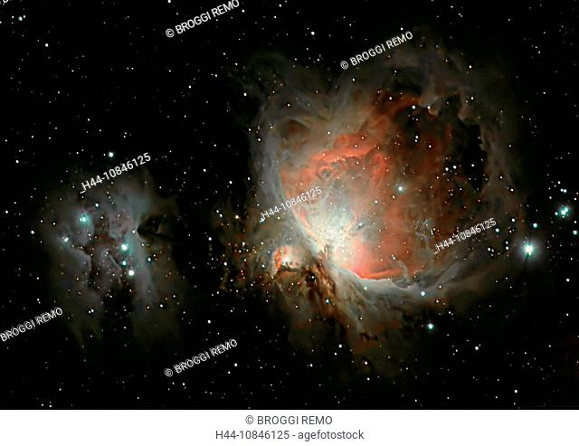 Orion Nebula, M42, NGC 1976, Orion constellation, space, outer space, universum, galaxies, galaxy, milky way, stars, s