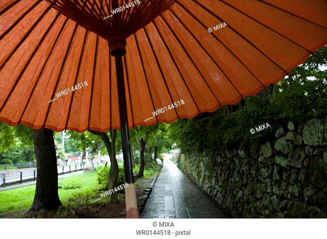 Coarse oilpaper umbrella in Shiga