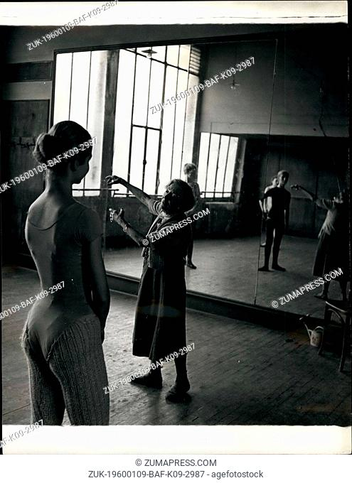 1956 - Madame Olga Preobrajenska gives a demonstration to her pupils. Ballet grand old lady still teaches the young. 85-year-old Russian Ballerina runs a...