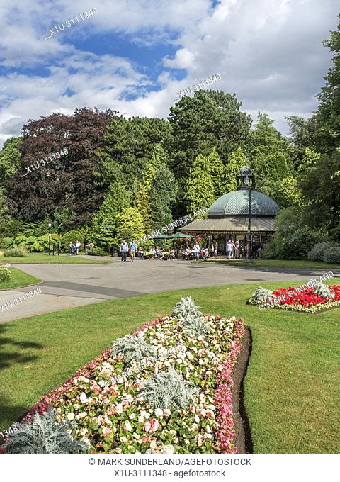 The Magnesia Well Cafe in Valley Gardens in Summer Harrogate North Yorkshire England