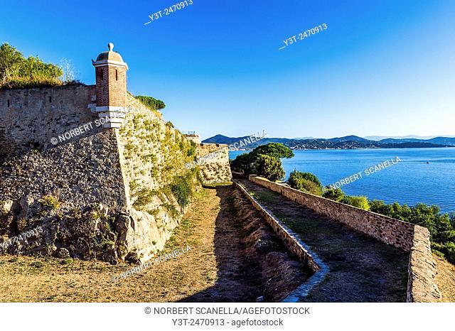 Europe, France, Var, Saint-Tropez. The citadel