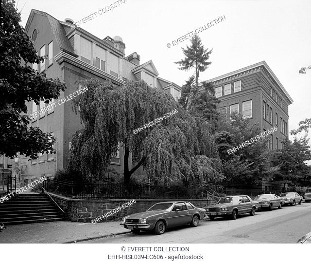 Yonkers, New York, ca. 1980. Public School No. 3, Hamilton Avenue between Ludlow and Morris Streets. Westchester County, NY. (BSLOC-2015-11-12)