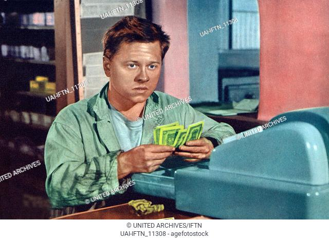 Quicksand, USA 1950, Regie: Irving Pichel, Darsteller: Mickey Rooney