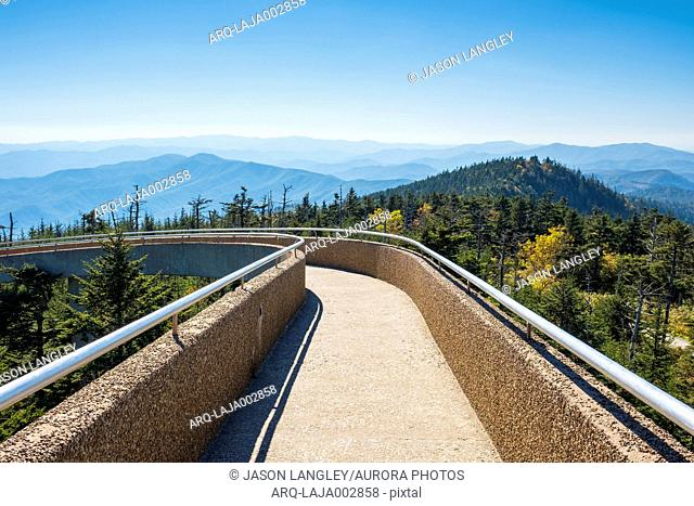 United States, North Carolina, Great Smoky Mountains National Park, Clingmans Dome, border of North Carolina and Tennessee