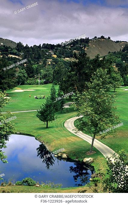 Golf Course at Carmel Valley Ranch Resort, Carmel Valley,Monterey County, California