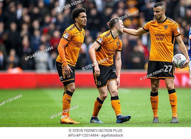 2018 EFL Championship Football Wolves v Birmingham City Apr 15th. 15th April 2018, Molineux, Wolverhampton, England; EFL Championship league football