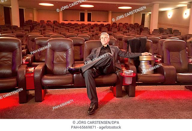 A wax figure of US actor George Clooney sits position on a cinema seat in Berlin, Germany, 7 February 2016. The wax figure is being presented on Monday