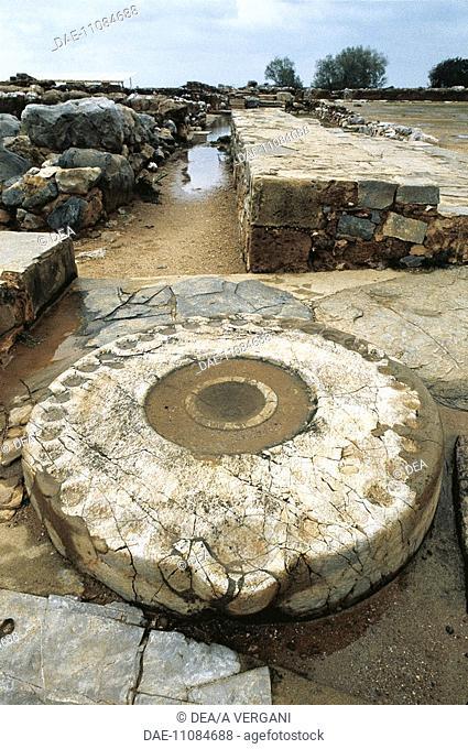 Greece - Crete - Mallia. Altar