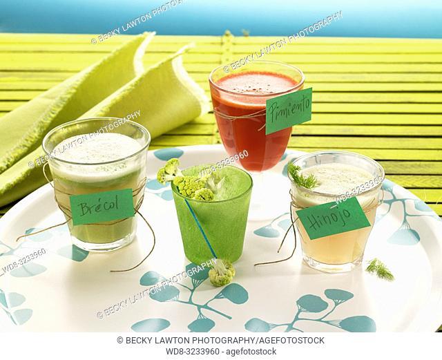 jugo de hinojo, pimiento y brocoli