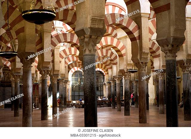 Spain, Córdoba, Mezquita, former mosque, today cathedral, interior shot