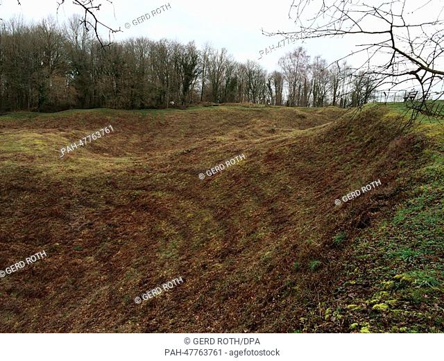 A view of the overgrown remains of the village of Vauquois which was destroyed in World War I near Verdun, France, 20 February 2014