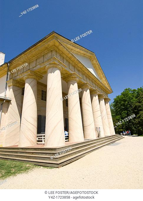 Washington DC, USA, Arlington National Cemetery. Arlington House, ancestral home of Robert E Lee